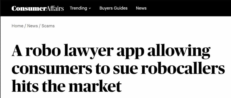 ConsumerAffairs - Cancel robocalls and sue robocallers